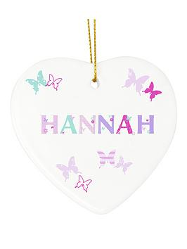 personalised-butterfly-ceramic-heart
