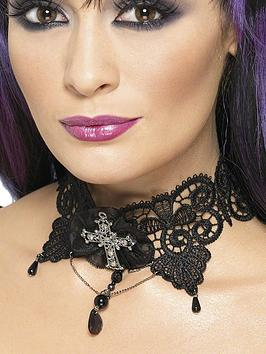 halloween-ladies-gothic-lace-choker