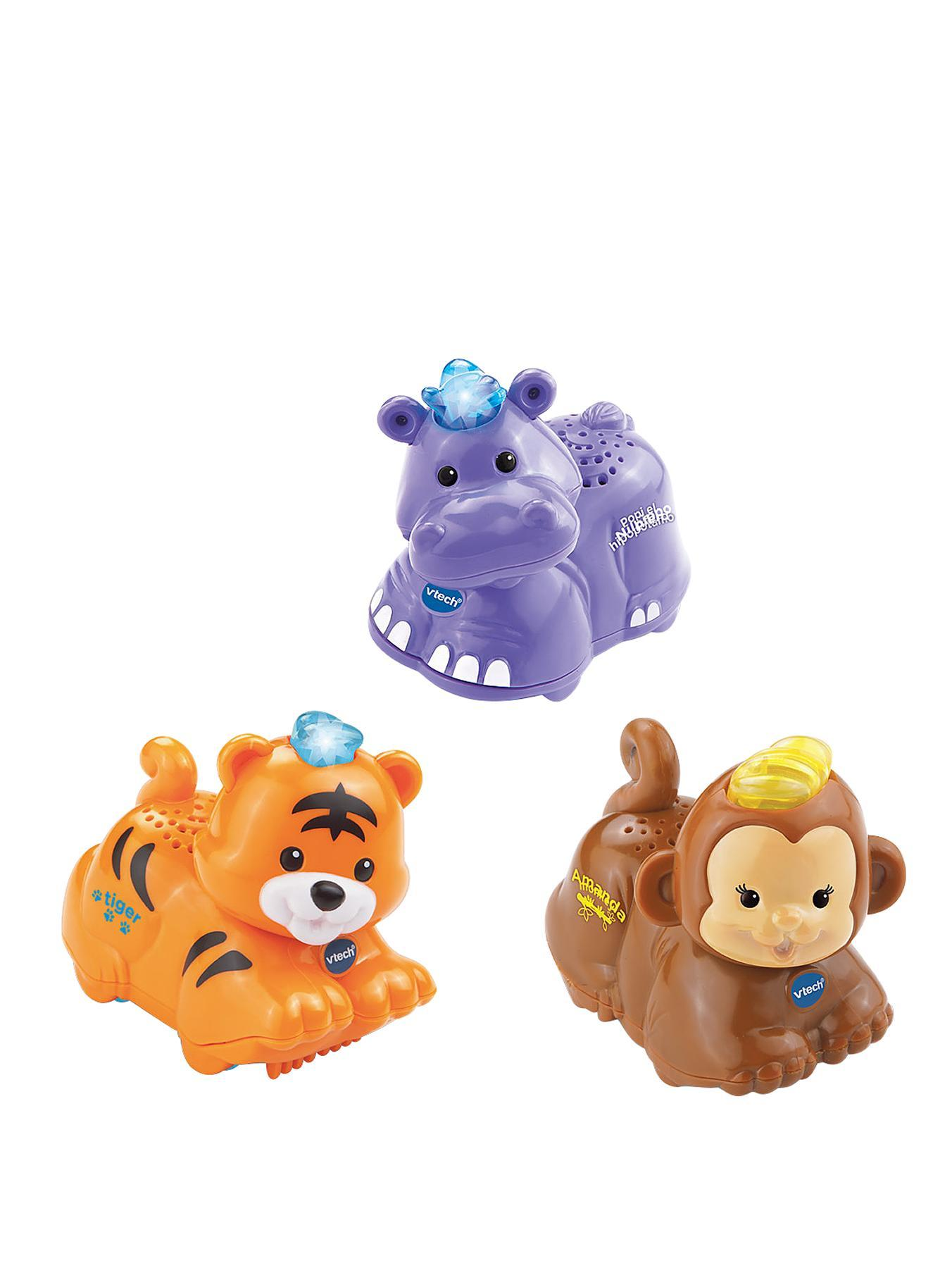 VTech Toot Toot Animals - Tiger, Hippo and Monkey