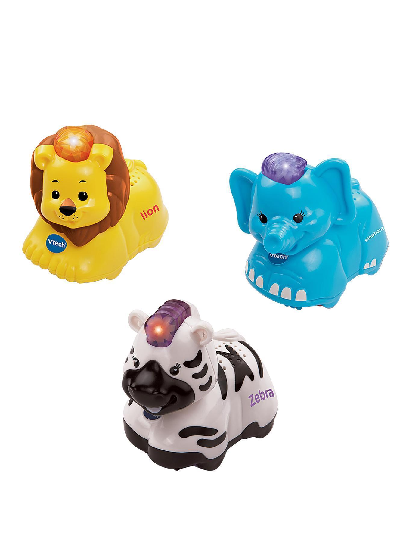 VTech Toot Toot Animals - Elephant, Zebra and Lion