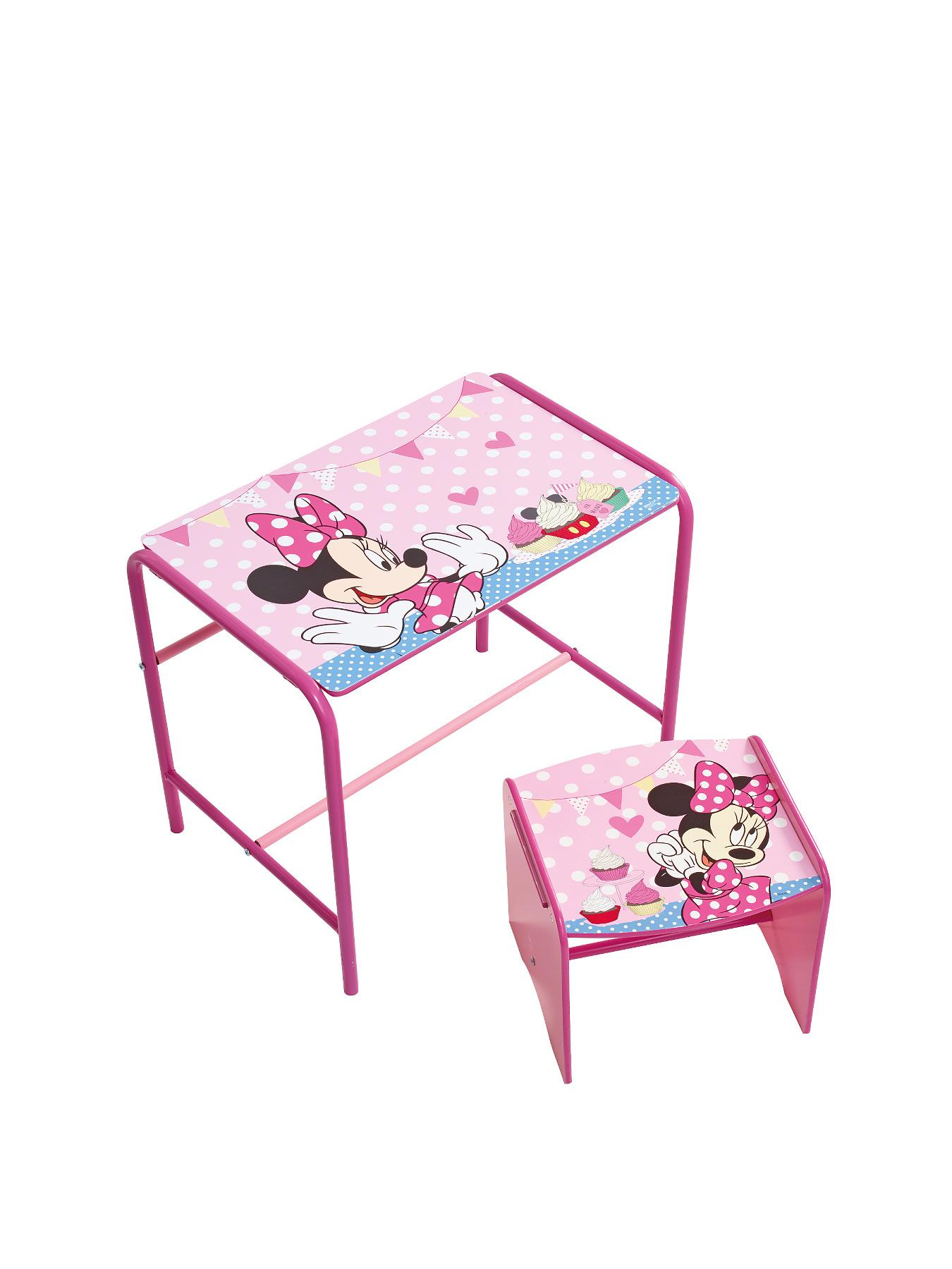 Minnie Mouse Metal and MDF Desk and Stool Set