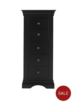 constance-ready-assembled-narrow-chest-of-5-drawers