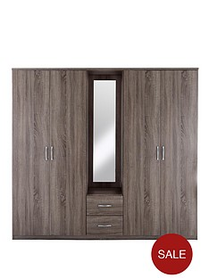 portland-4-door-2-drawer-combi-wardrobe