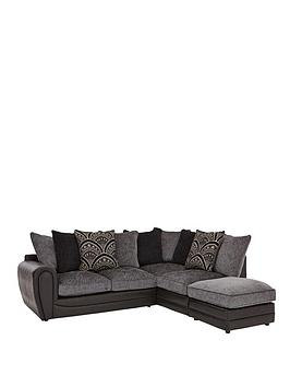 Gatsby Right Hand Single Arm Corner Chaise and Footstool