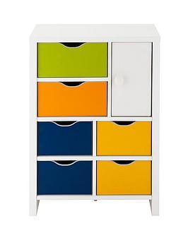 kidspace-jazz-6-drawers-1-door-chest-multi