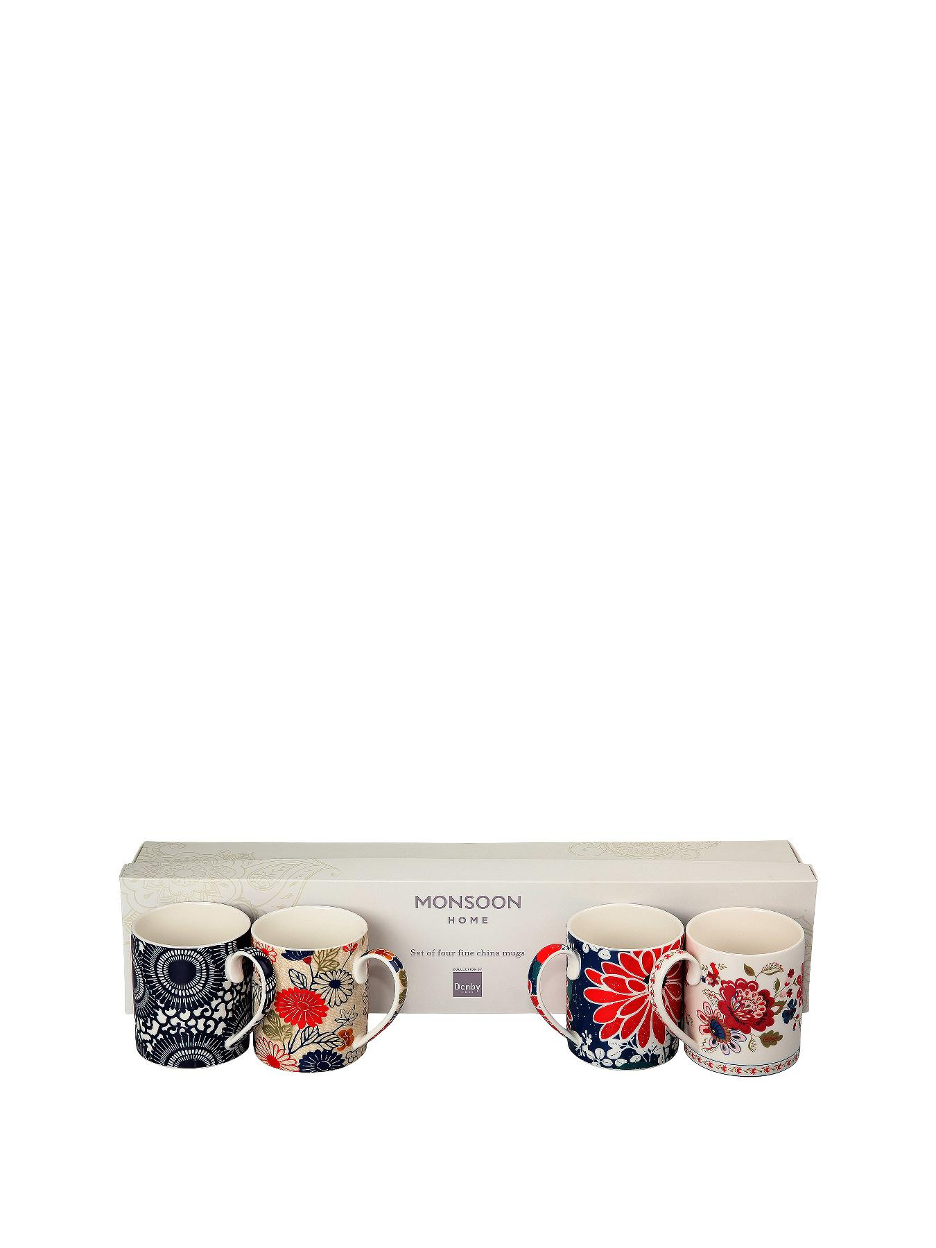 Denby Monsoon Home Collection by Denby 4 Piece Gift Boxed Mug Set