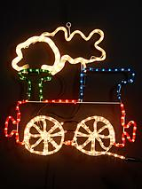 Train Rope Light Silhouette Outdoor Christmas Decoration