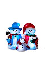 Cotton Snowman Family Christmas Decoration with LED Lights