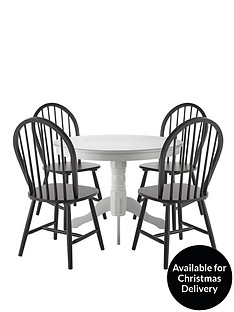 kentucky-107-cm-round-dining-table-4-chairs-whiteblack