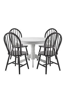kentucky-107-cm-round-dining-table-4-chairs-whiteblack