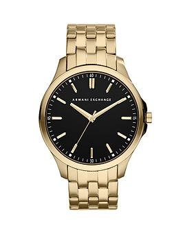 armani-exchange-black-dial-and-gold-ip-plated-bracelet-mens-watch