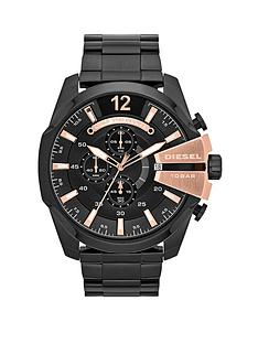 diesel-mega-chief-chronograph-black-and-rose-gold-dial-with-stainless-black-ip-bracelet-mens-watch