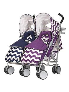 obaby-leto-plus-twin-stroller-and-footmuffs-zigzag-navypurple