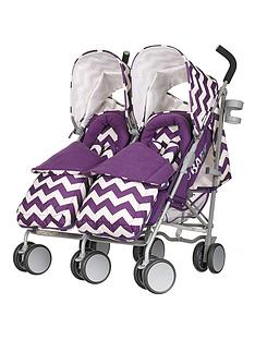 obaby-leto-plus-twin-stroller-and-footmuffs-zigzag-purple