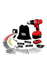 EPC148VDA-GB 14.4-volt Combi Hammer Drill Kit, Manual Pipe and Wire Detector and 150 Accessories