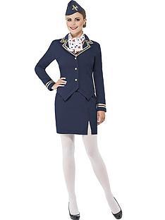ladies-blue-flight-attendant-costume