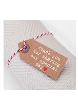 Just My Type - Wedding Favour Luggage Tag (20 pack)