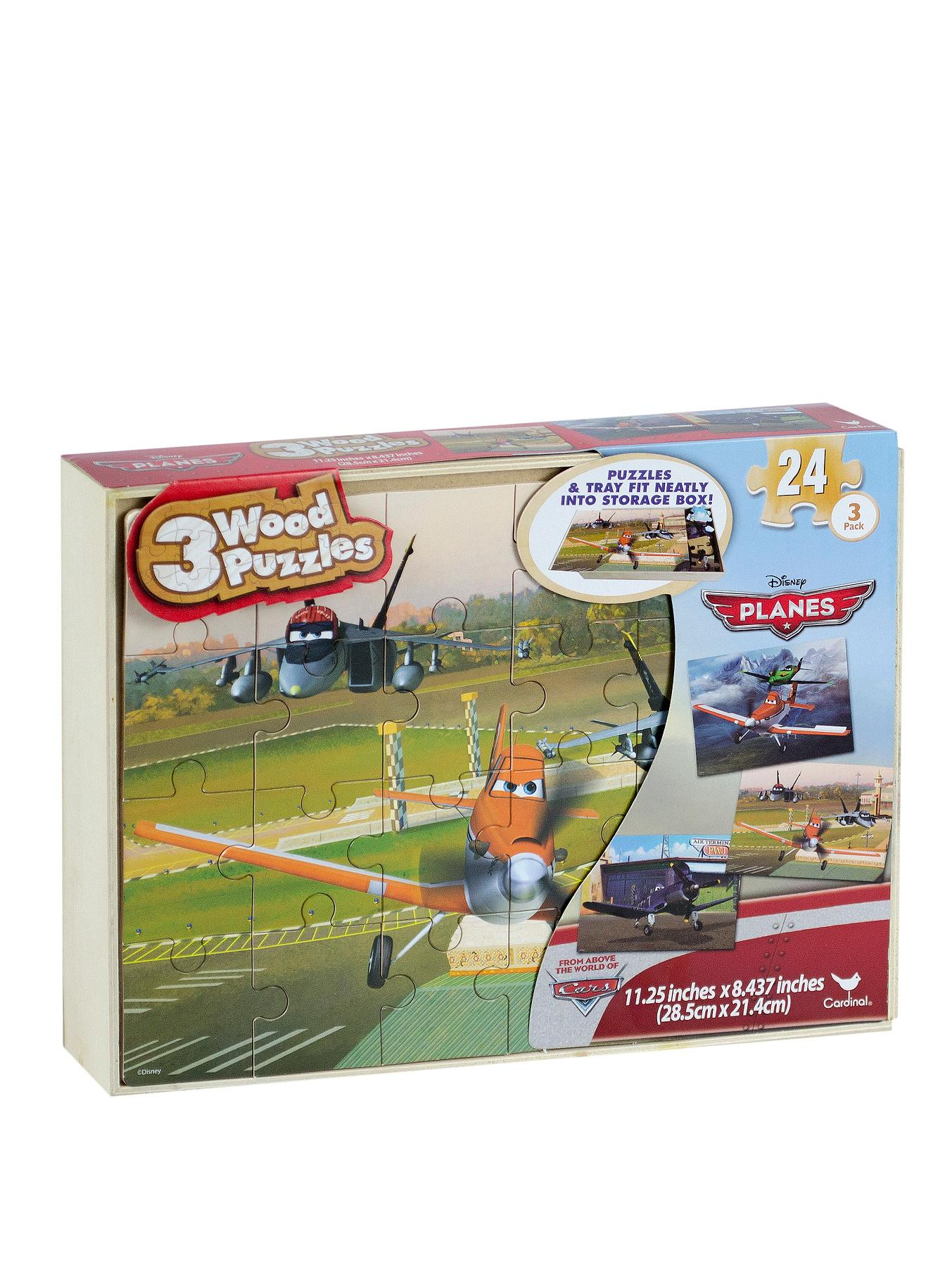 Disney Planes 3 Wooden Puzzles in a Wooden Case