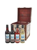 Luxury Printed Box with 4 Quarter Wine Bottles