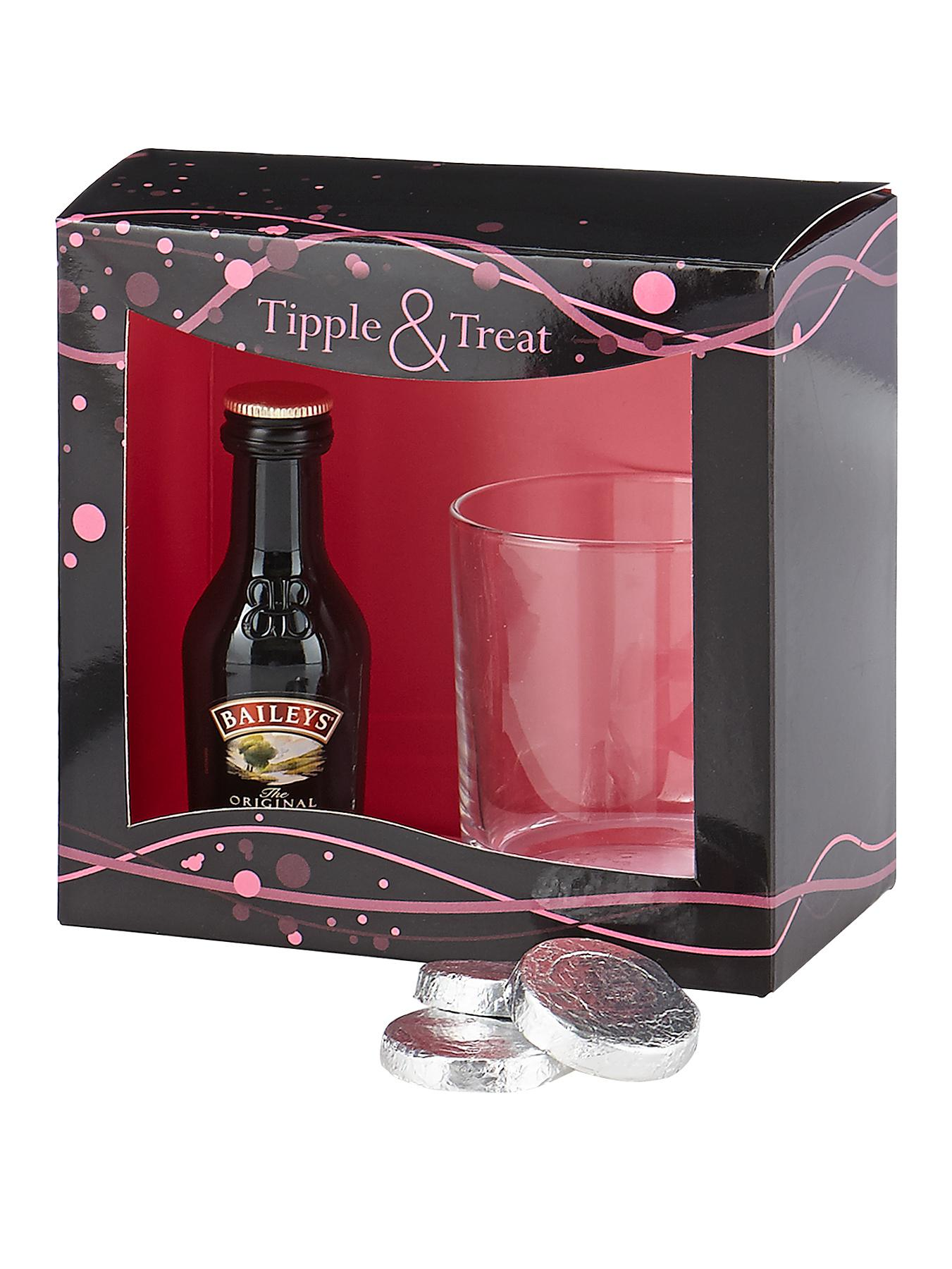 Cream Liqueur Tipple and Treat Set
