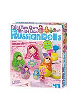 Paint Your Own Russian Dolls Triket Box