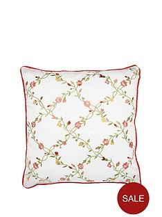 sanderson-options-alsace-filled-square-cushion-red