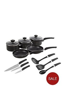 morphy-richards-5-piece-pan-set-with-6-piece-tool-set-black