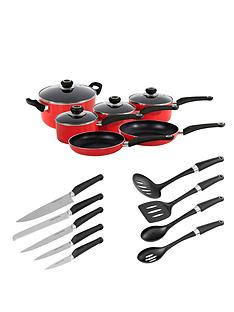 morphy-richards-6-piece-pan-set-with-10-piece-tool-set-red