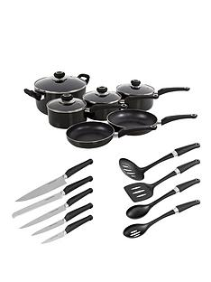 morphy-richards-6-piece-pan-set-with-10-piece-tool-set-black