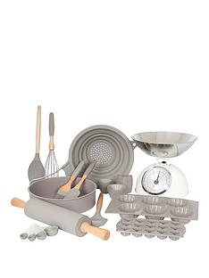 sabichi-silicone-baking-set-35-piece-grey
