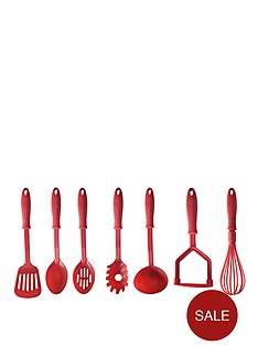mason-cash-kitchen-essentials-nylon-7-piece-tool-set-red