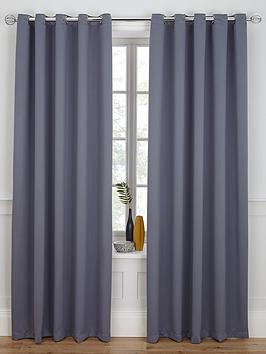 Woven Blackout Eyelet Curtains | very.co.uk