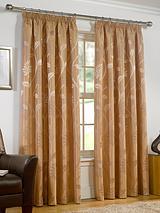 Leanne Jacquard Pencil Pleat Curtains