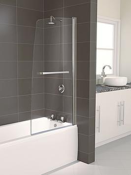 aqualux-aqua-5-half-framed-bath-screen-1500-x-800mm