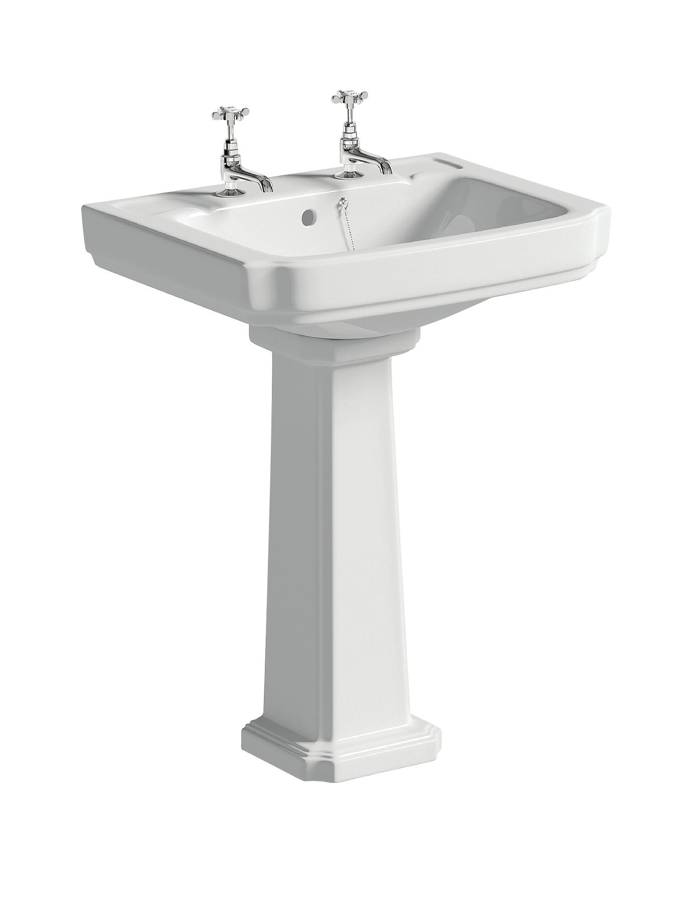 Elegance 2 tap Hole and Full Pedestal Basin
