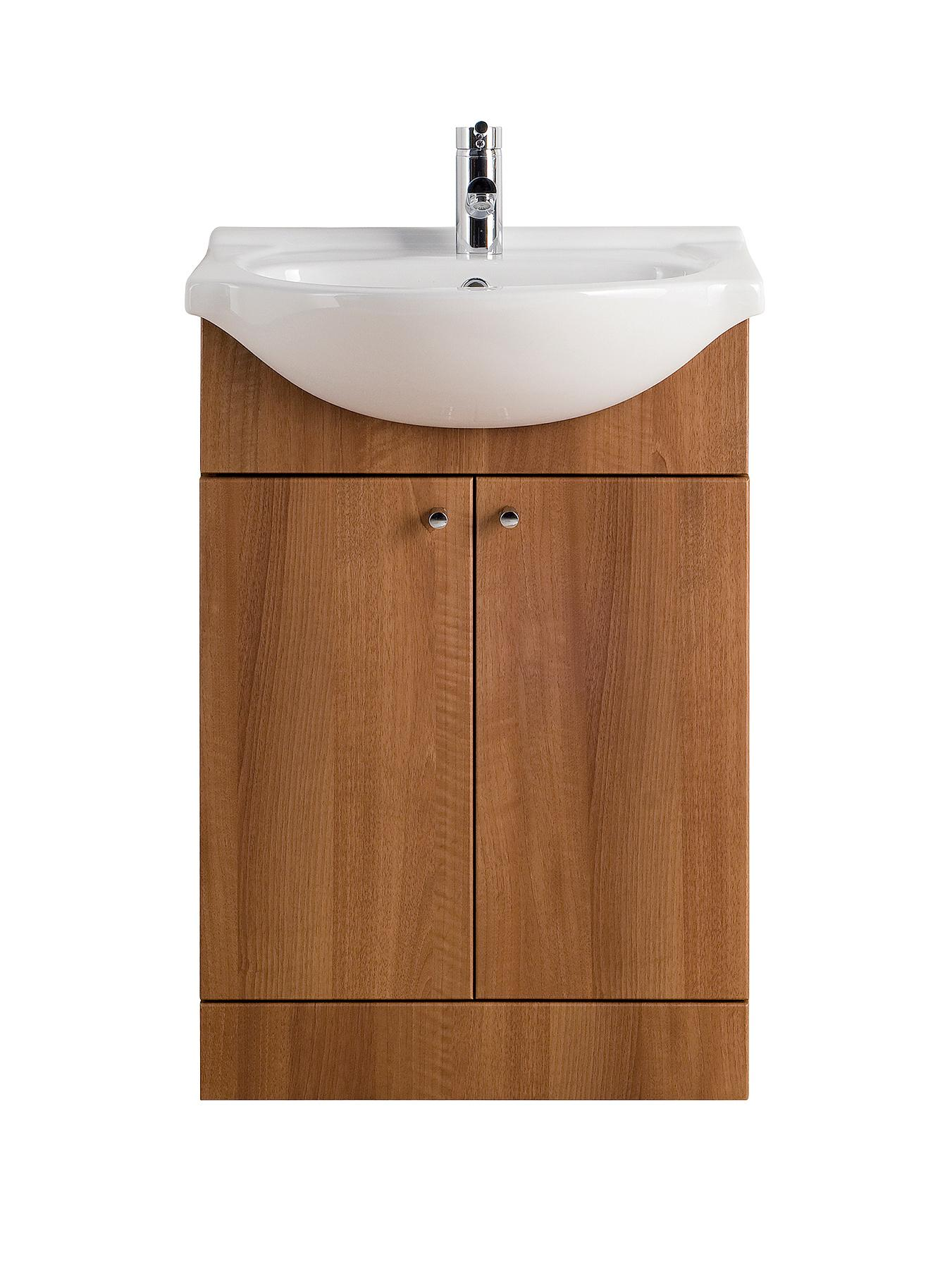 550mm Vanity Unit - Walnut