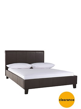 lexington-faux-leather-bed-frame-with-mattress-options
