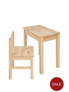 kidspace-baltic-kids-solid-pine-desk-and-chair-set