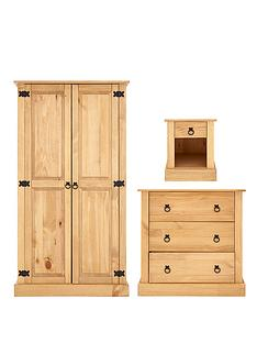 kidspace-havana-3-piece-solid-pine-furniture-set-wardrobe-chest-of-drawers-and-bedside-cabinet