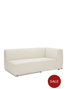 boda-modular-left-hand-single-arm-faux-leather-chaise