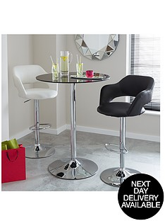 roma-glass-and-chrome-round-bar-table