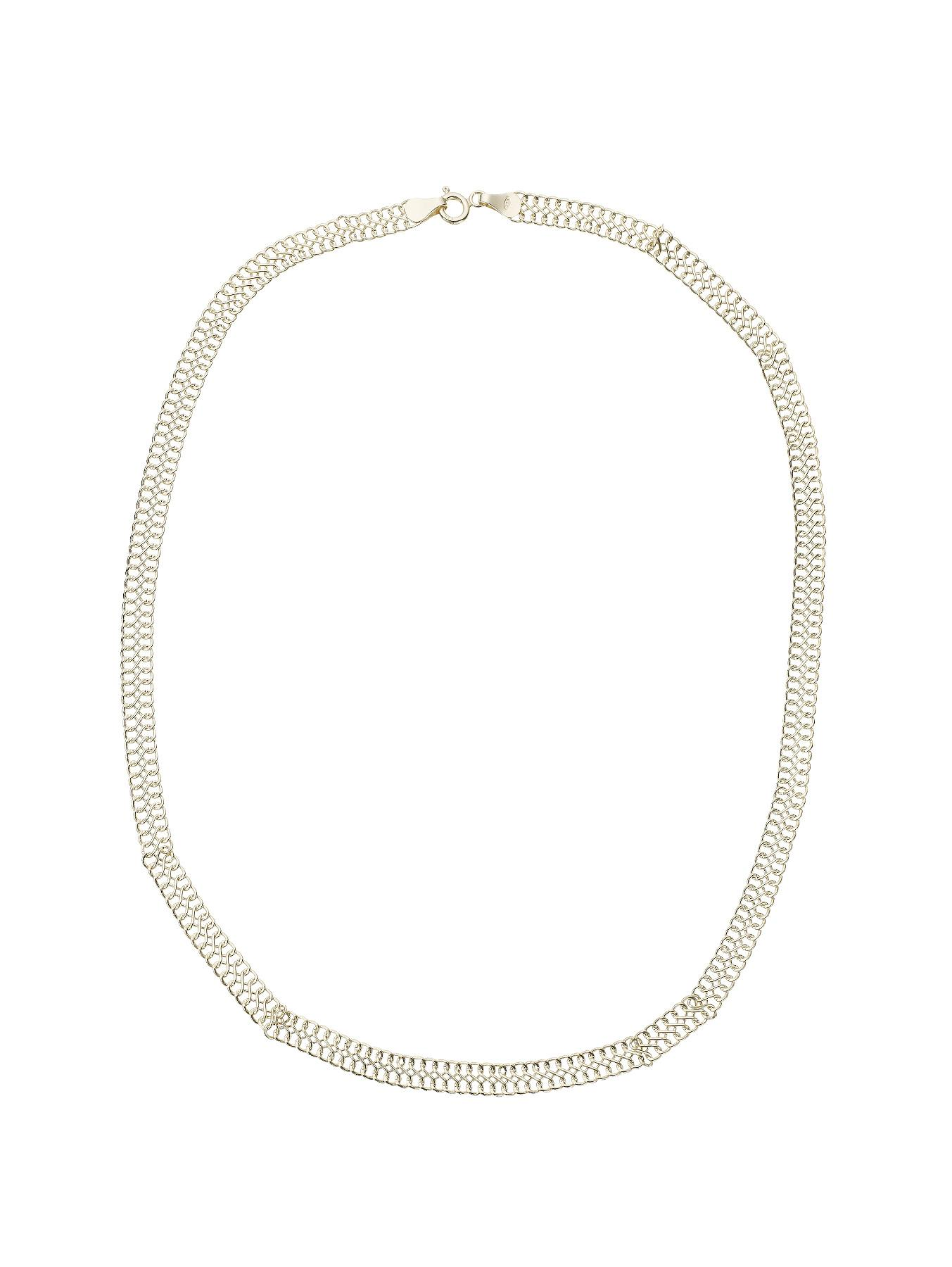 The Gold Collection 9-Carat Yellow Gold Double Row Fancy Chain
