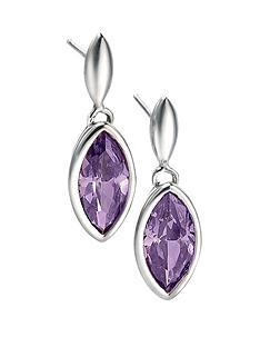 fiorelli-marquise-purple-cubic-zirconia-drop-earrings