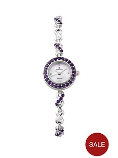 sovereign-personalised-sterling-silver-amethyst-set-bracelet-ladies-watch