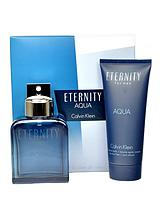 Eternity Aqua Homme 100ml EDT and 100ml Aftershave Balm Gift Set