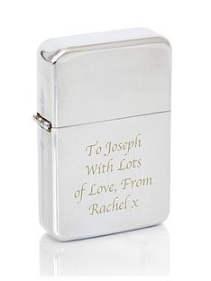 personalised-silver-windproof-lighter
