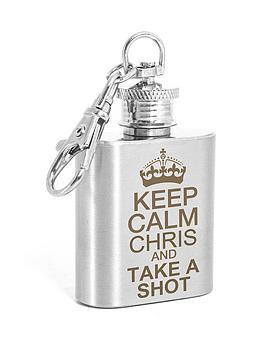 personalised-keep-calm-1oz-hip-flask-keyring