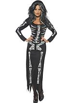 Halloween Skeleton Tube Dress - Adult Costume