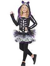 Girls Skelly Cat - Child Fancy Dress Costume