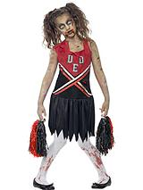 Halloween Girls Zombie Cheerleader - Child Fancy Dress Costume